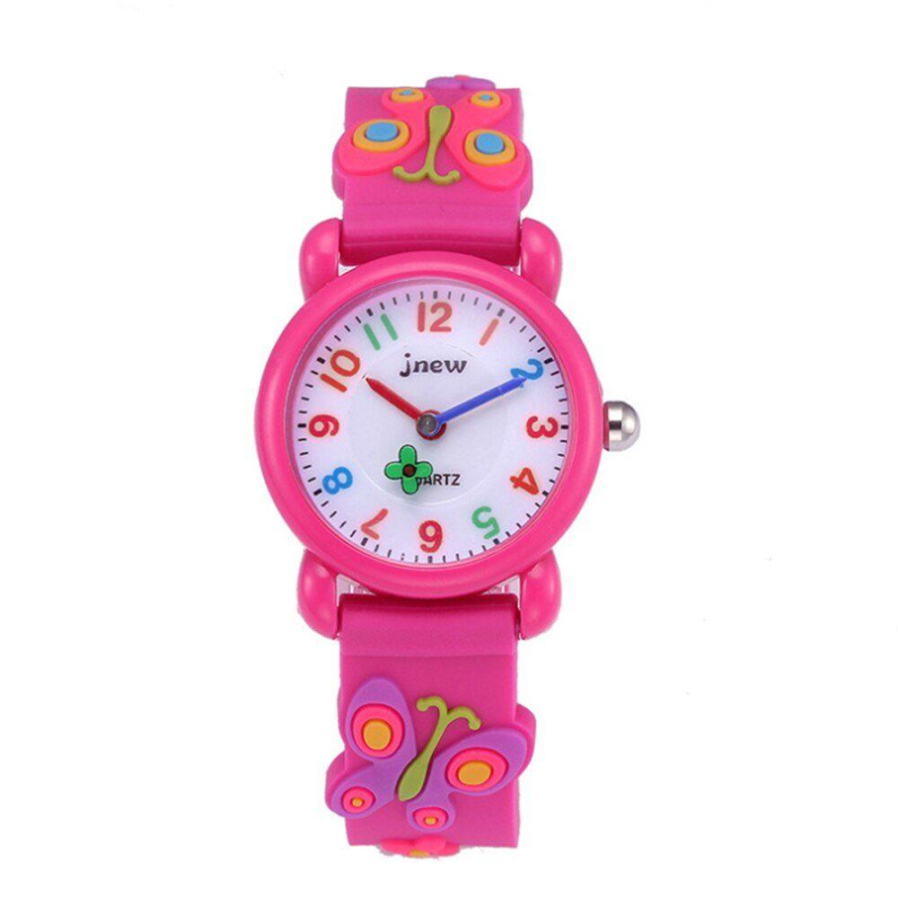 ceas fluturi roz