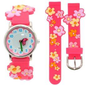 ceas floricele roz fete